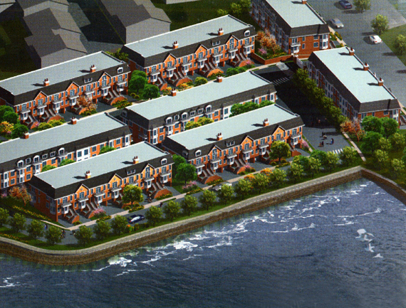 <h5/>College Point, QueensAn 87-unit private community in College Point, Queens.  Includes 4-story, two-family townhouses and a scenic waterfront view